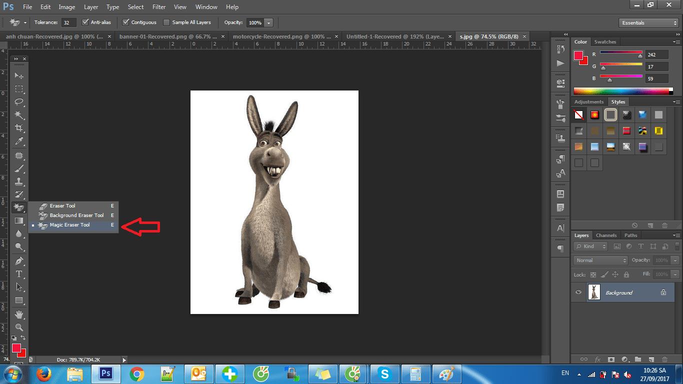 tach nen trang trong photoshop cs6 2