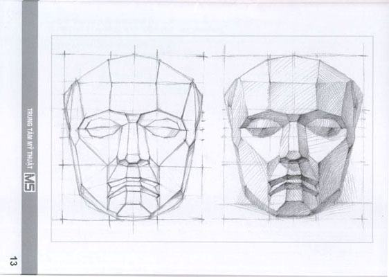 Quá trình học vẽ đầu tượng thạch cao   Luyện thi khối H,V