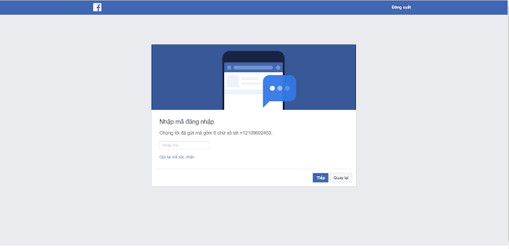 Checkpoint Facebook dạng SĐT