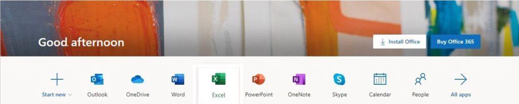 Tất cả ứng dụng Office 365