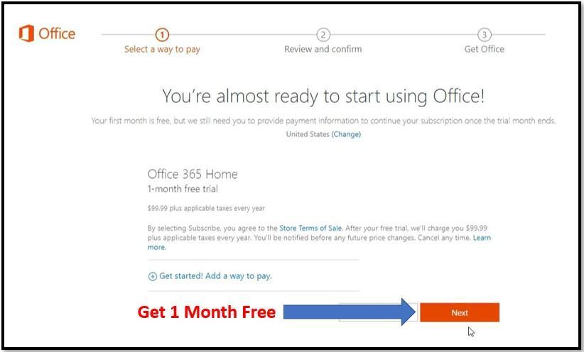 Cách nhận Office 365 miễn phí