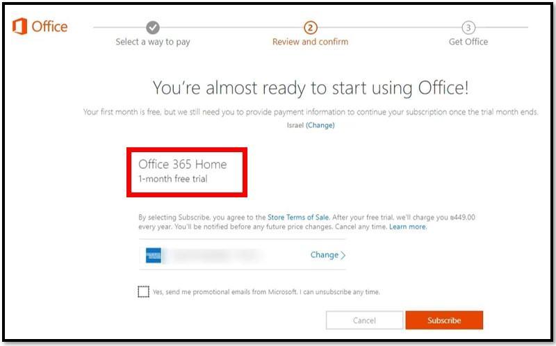 Hoàn thành đăng ký Microsoft