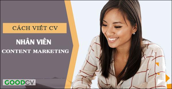 Cách làm đơn xin việc Content Marketing
