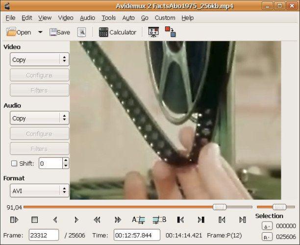 Ứng dụng chỉnh sửa video Avidemux