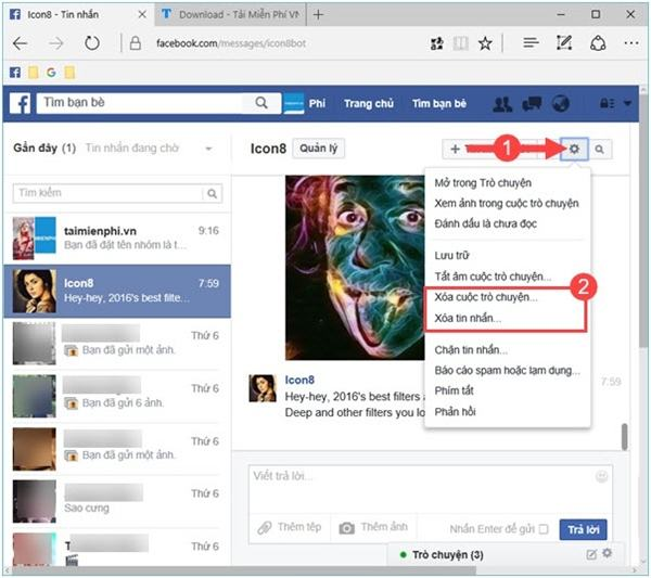 Thủ thuật xem tin nhắn bị ẩn Trên Facebook