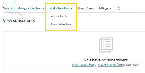 hướng dẫn dùng mailchimp thêm subscriber