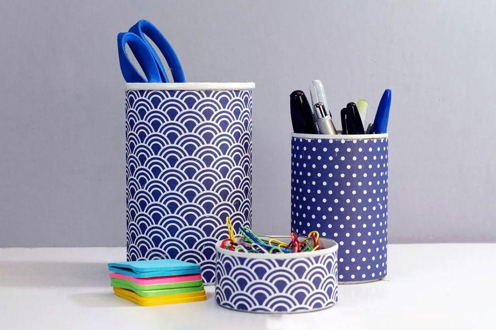 ống cắm bút handmade