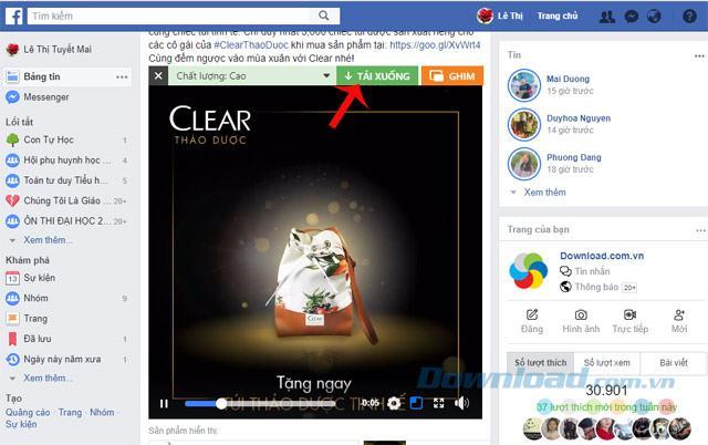 Tải video Facebook
