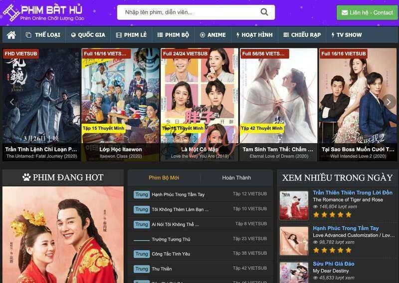 Trang web xem phim online chuẩn HD tốt nhất 2020