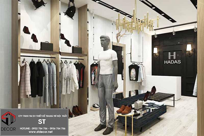 Thiết kế nội thất shop quần áo thời tranggiản đơn