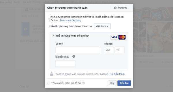 Thanh toán quảng cáo Facebook