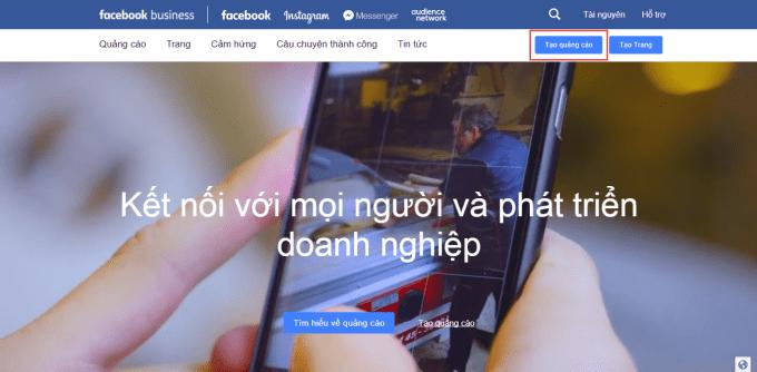 Bắt đầu chạy quảng cáo Facebook Bussiness