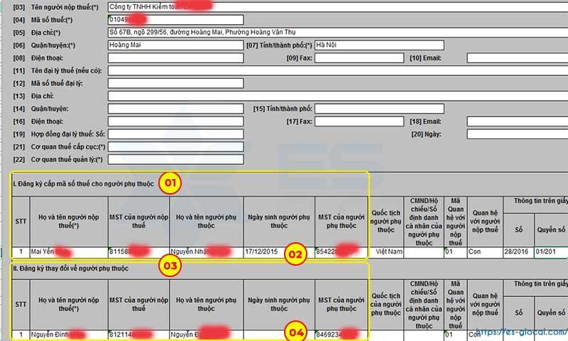 Kết quả tra cứu mã số thuế người phụ thuộc