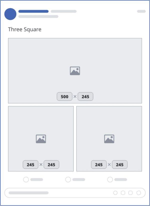 ảnh đăng facebook 3 hình vuông - kích thước avatar facebook