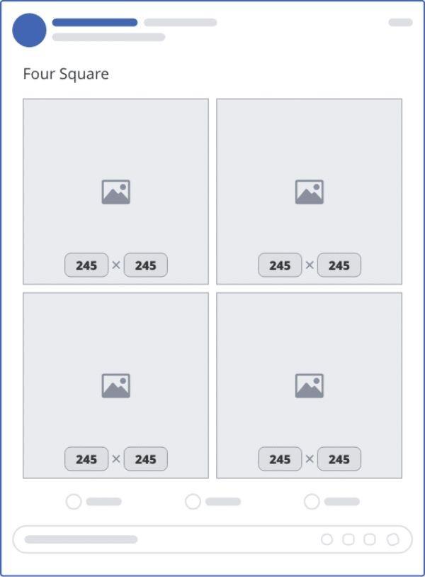 ảnh đăng facebook 4 hình vuông - banner facebook