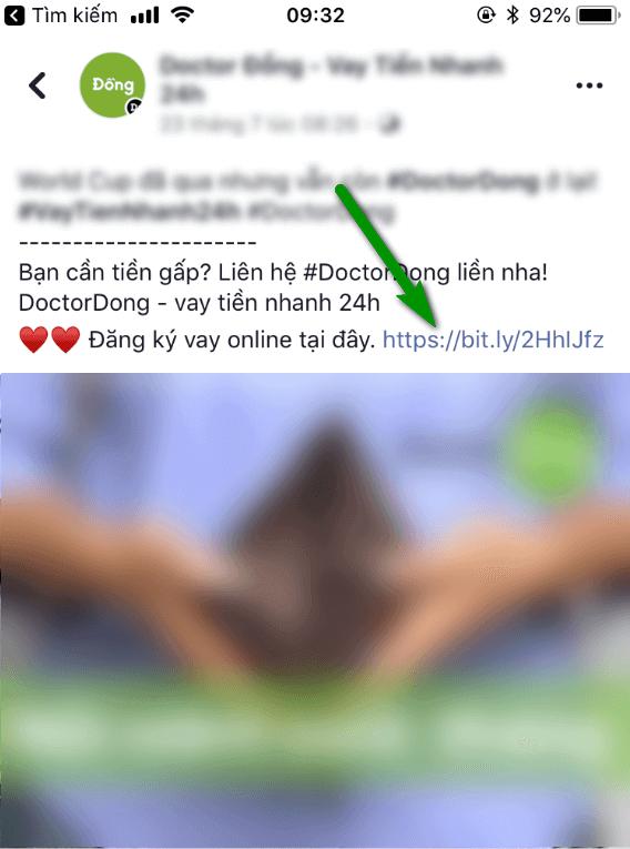 Bài post/quảng cáo trên Facebook