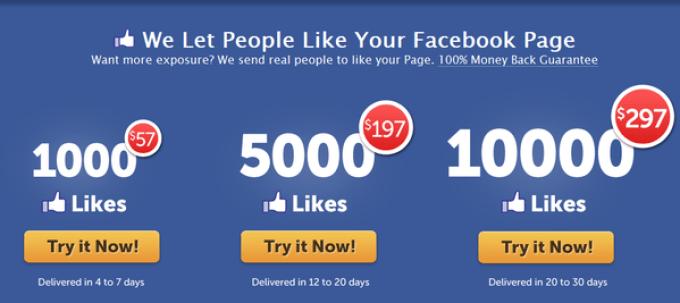 Mua like là cách tăng likekênh Facebookmột cách nhanh chóng