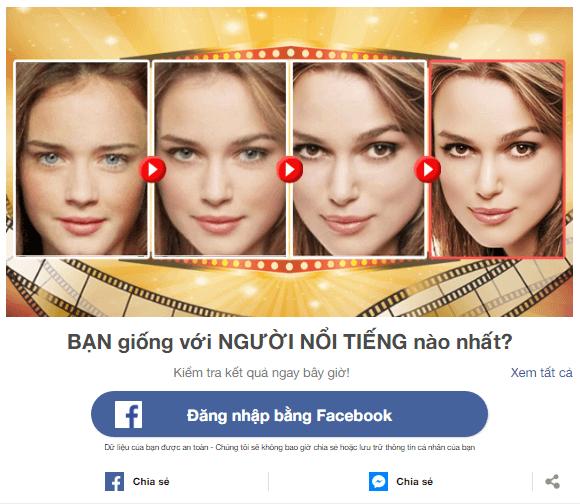 Ứng dụng giải trí trên Facebook