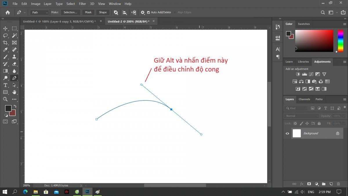 vẽ đường thẳng trong photoshop