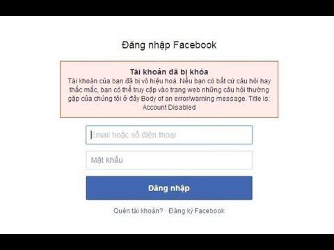 Cách Mở Khóa Tài Khoản Facebook Bị Vô Hiệu Hoá ( FAQ ) - Link Xác Minh Bên Dưới - YouTube