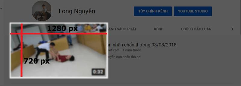 kích thước thumbnail youtube