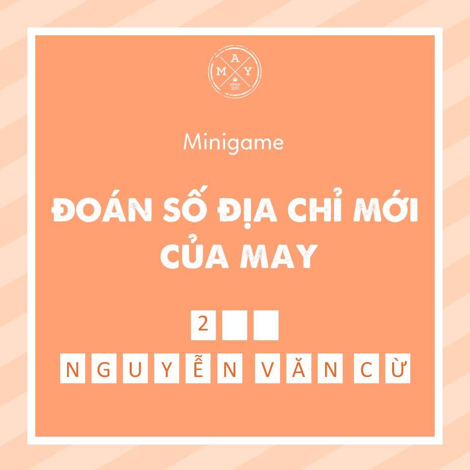 Mini game nhận quà đoán địa chỉ mới củacửa hàng(FB: May_Boutique)