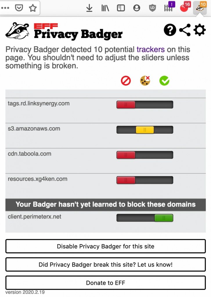 Review: Privacy Badger Browser Extension • mindful.technology
