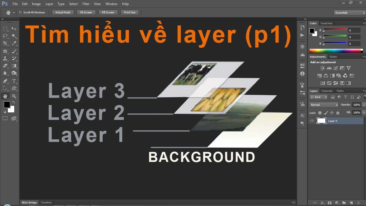 Sử dụng các layer