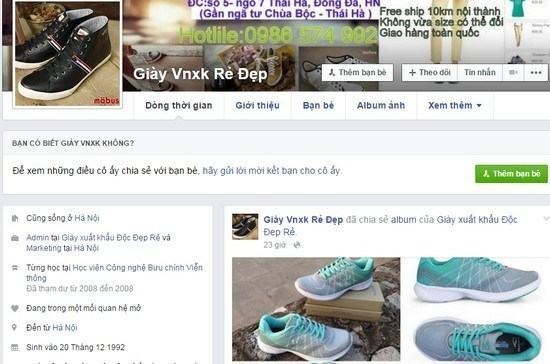 Mẫu content bán giày