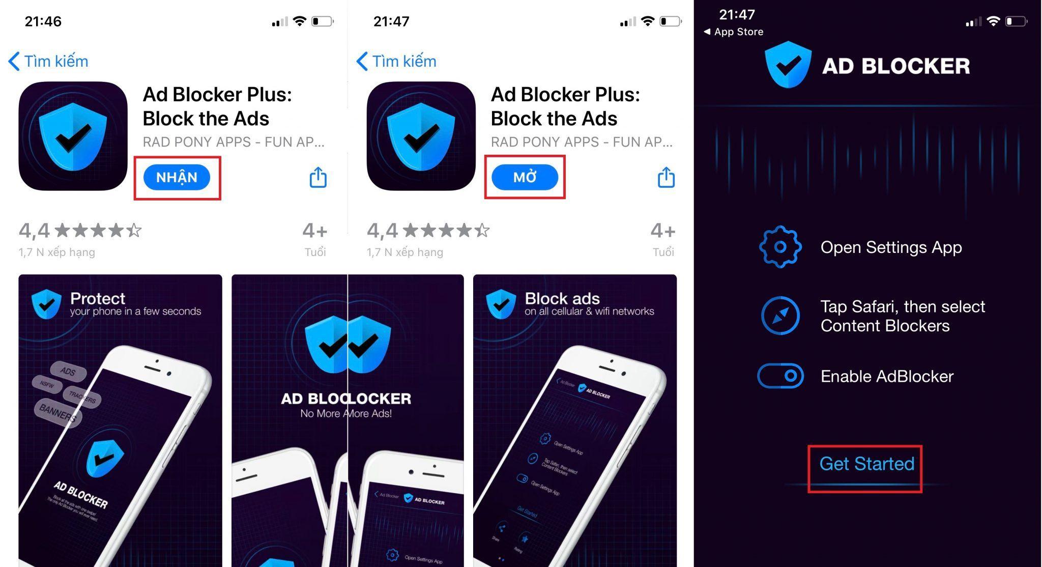 chặn quảng cáo trên iOS