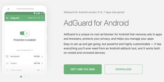 Chặn quảng cáo trên thiết bị Android