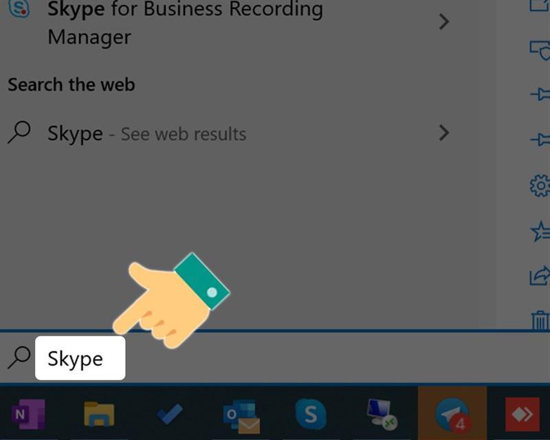 Gõ tìm kiếm Skype