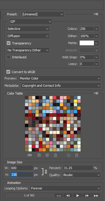 Chỉnh sửachất lượng ảnh GIF