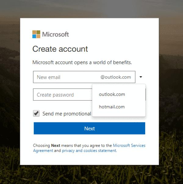 Tạo email theo tên miền với Outlook