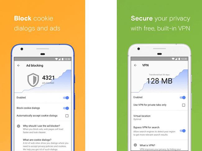 Opera browser cung cấp các tính năng chặn quảng cáo trên trình duyệt mà không cần add-on