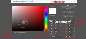 Chọn lựamàu khitô màu trong photoshop