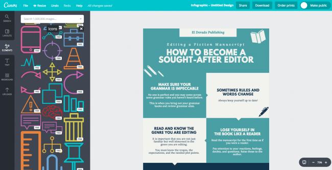 Công cụ thiết kế Infographic Canva