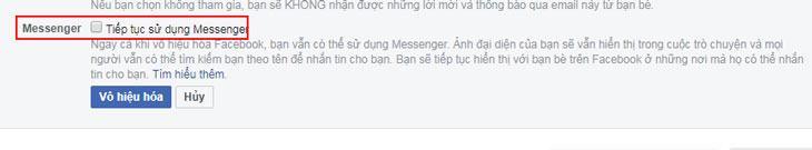 Bạn có khi dùng Messenger khi đã Vô hiệu hóa Facebook