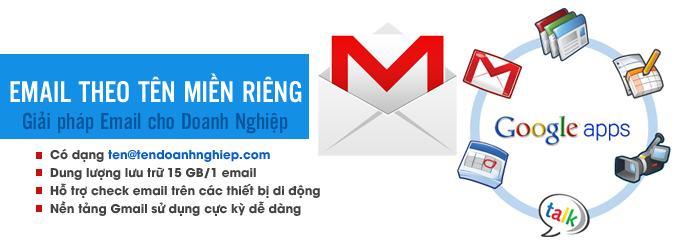 Tạo email theo tên miền với dịch vụ của Google