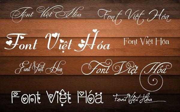 Tổng hợp hơn font chữ việt hóa đẹp dành cho thiết kế