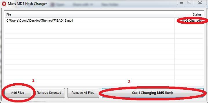 Quý Lộc: Thay đổi mã MD5 của file và Thay đổi Propertie -Tool MD5 Hash Changer And Tool Change Propertie