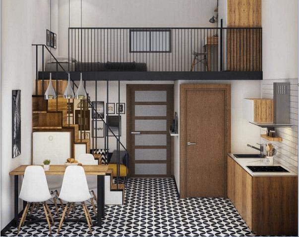 Thiết kế nhà trọ theo phòng thủy là thiết kế tận dụng diện tích khoảng không