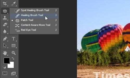 Xóa chữ trong photoshopbằngHeading Brush Tool