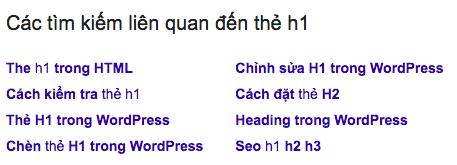 Google tìm kiếm liên quan