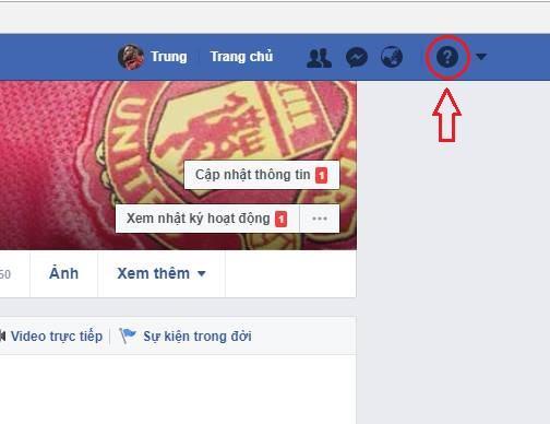 Báo cáo sự cố cho facebook