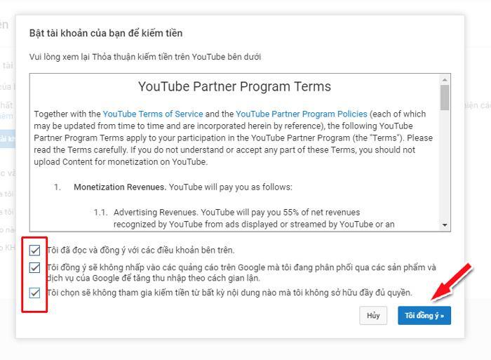 Hướng dẫn bật kiếm tiền YouTube