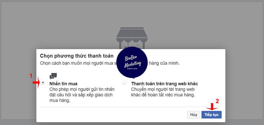 cách tạo cửa hàng trên facebook