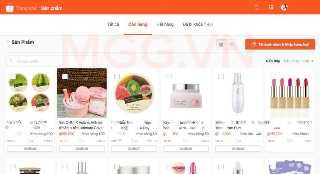 Đăng bán hàng thành công trên Shopee