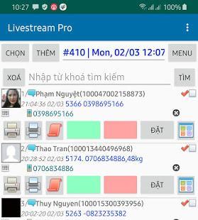 Phần mềm quét đơn Livestream