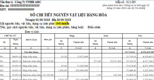 Quản lý kho vật tư bằng Excel